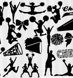 cheer clipart file megaphone and pom poms [ 3140 x 2560 Pixel ]