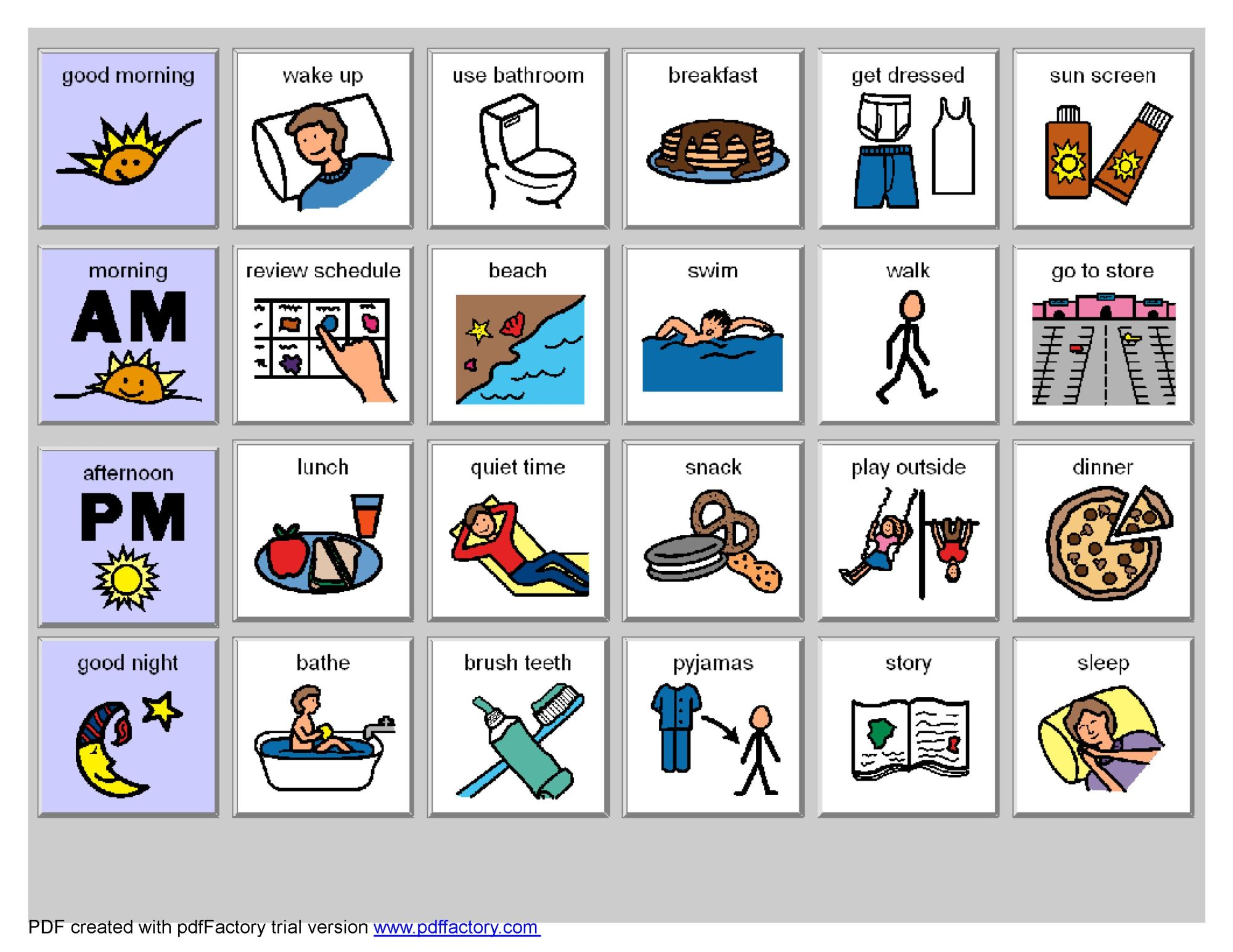 hight resolution of chore clipart visual cue image result for schedules