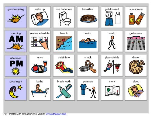 small resolution of chore clipart visual cue image result for schedules