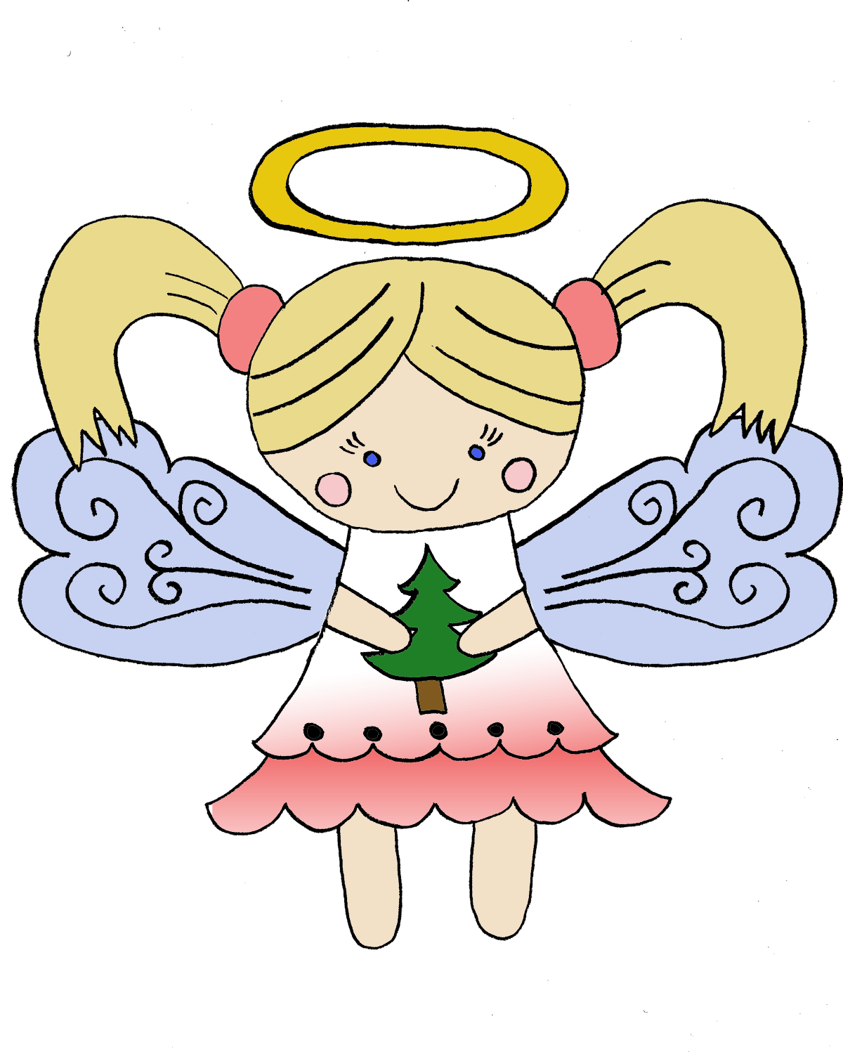 hight resolution of christmas angel png hd mart