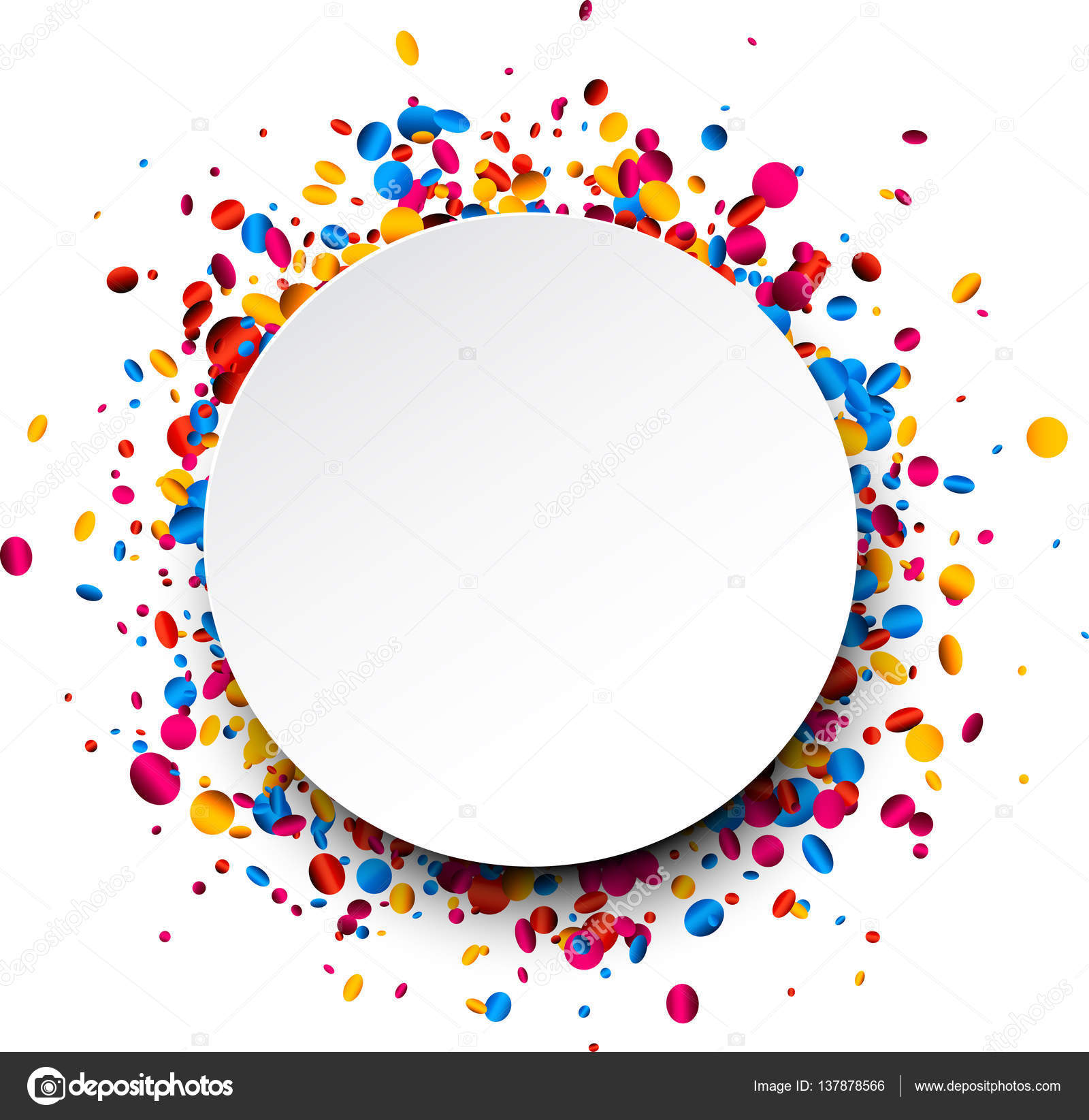 hight resolution of confetti clipart circle