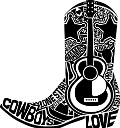 cowboy boots silhouette png clipart boot typography big [ 2070 x 2237 Pixel ]