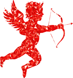 cupid clipart red ruby martin silhouette big [ 2196 x 2334 Pixel ]