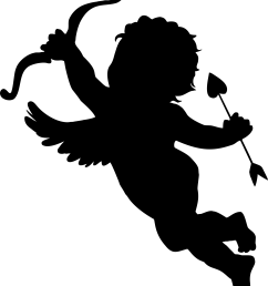 cupid silhouette png icons free and downloads [ 1966 x 2278 Pixel ]