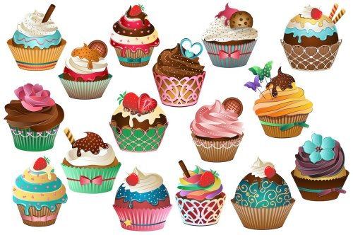 small resolution of cupcake clipart vector png jpg illustrations creative market