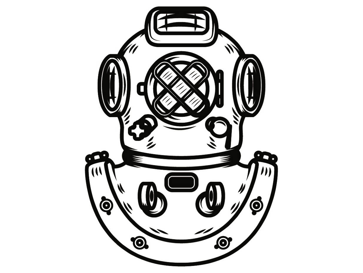 hight resolution of diver clipart vintage