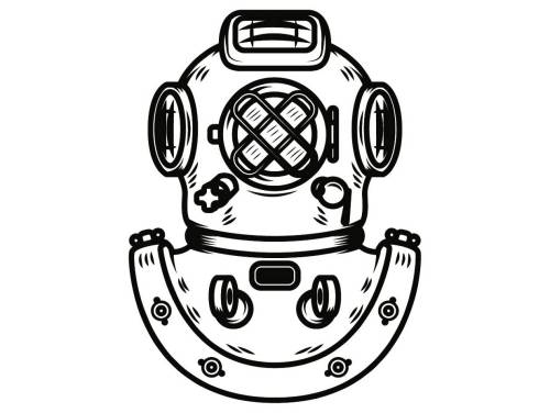 small resolution of diver clipart vintage