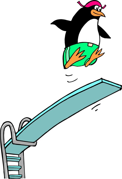 small resolution of diving clipart diving board