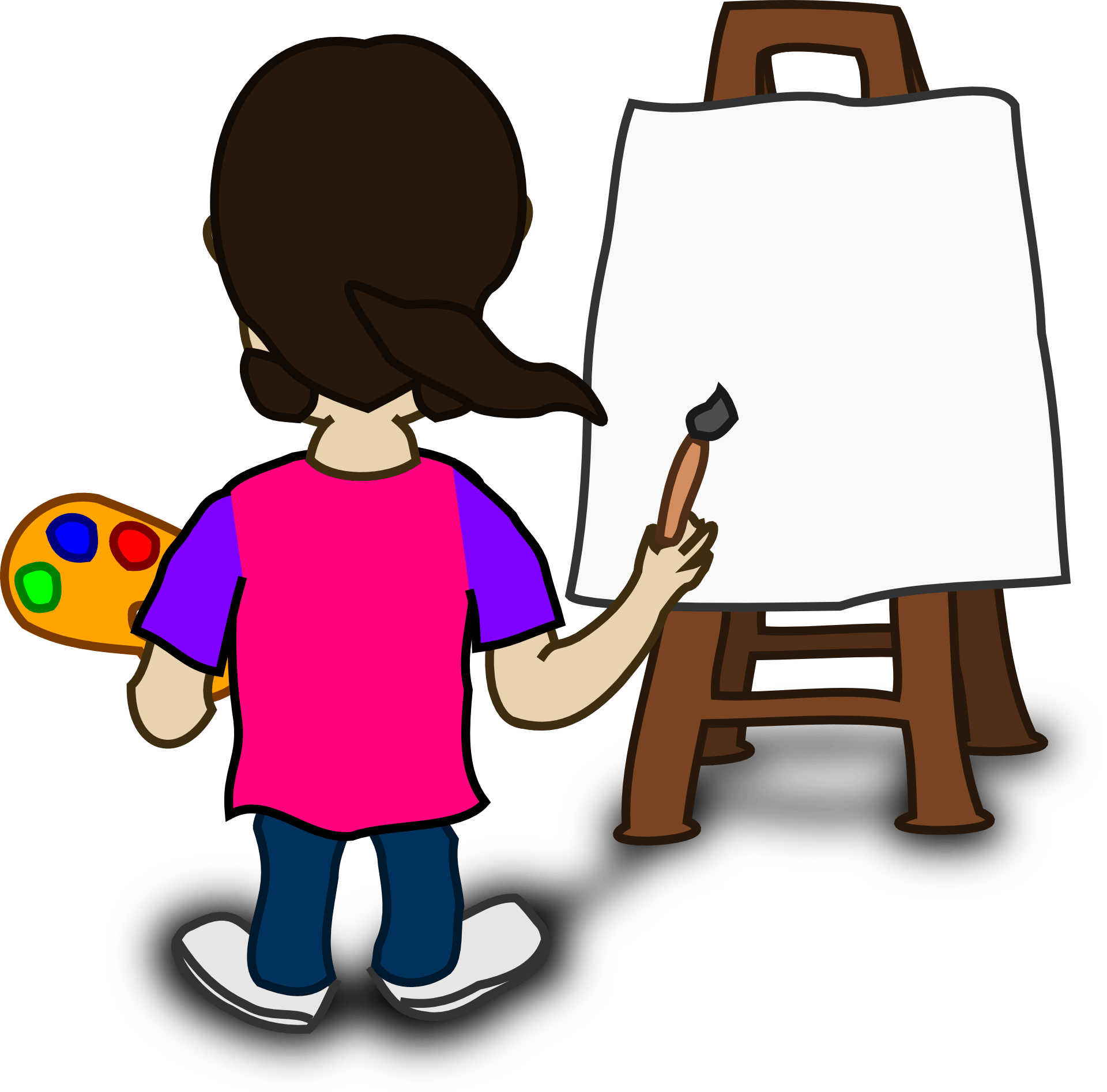hight resolution of easel clipart art class the teeny tiny artist