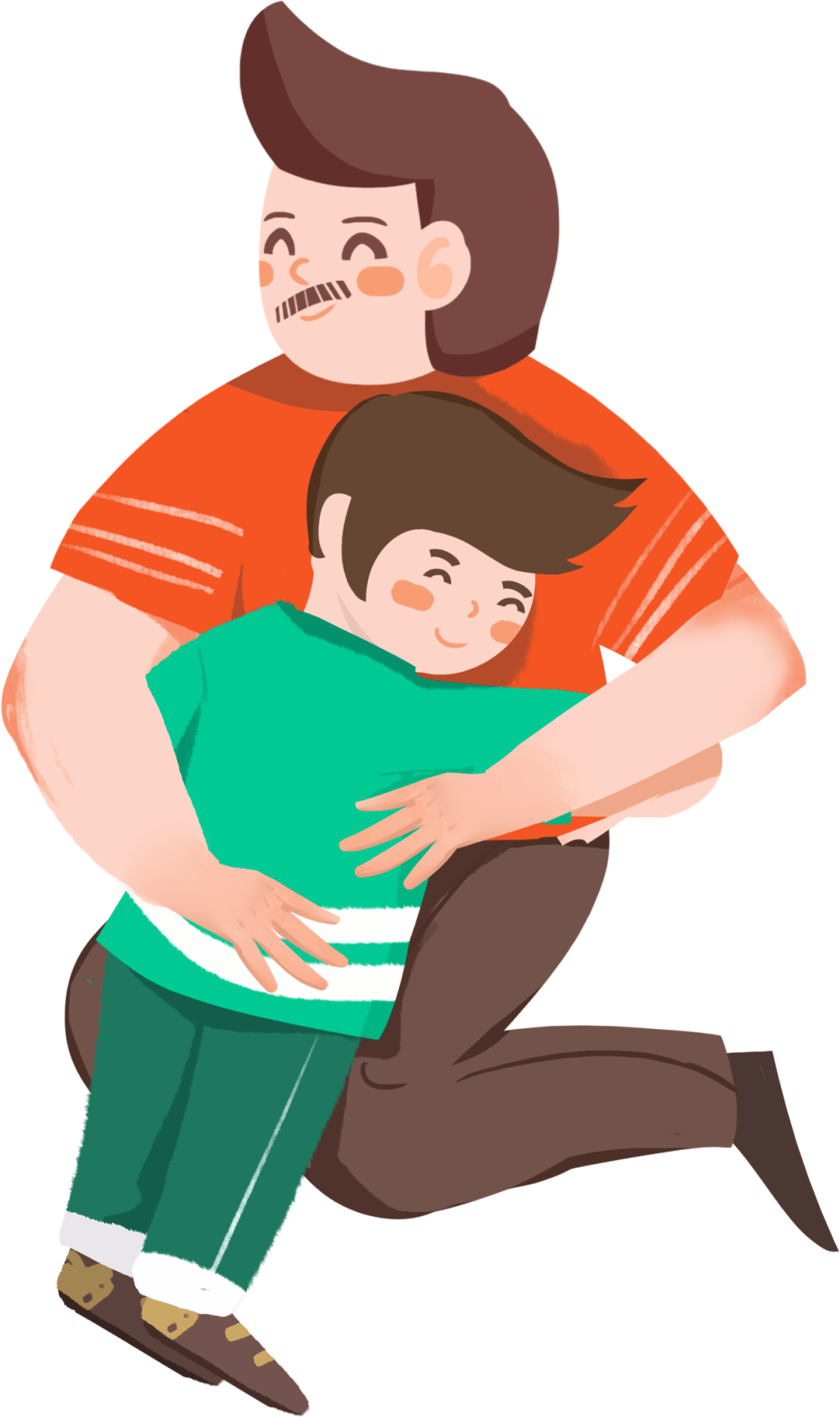 medium resolution of cartoon dad sitting png download hd hand drawn