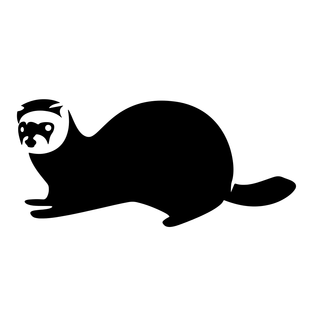 hight resolution of ferret vector silhouette file icon flipped the