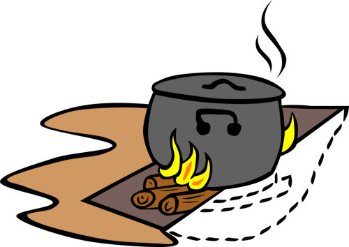 small resolution of cooking clipart hot food outdoor cooked rice chef