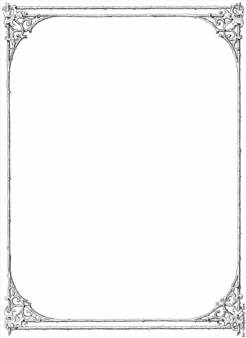 medium resolution of frame clipart victorian border of twigs and