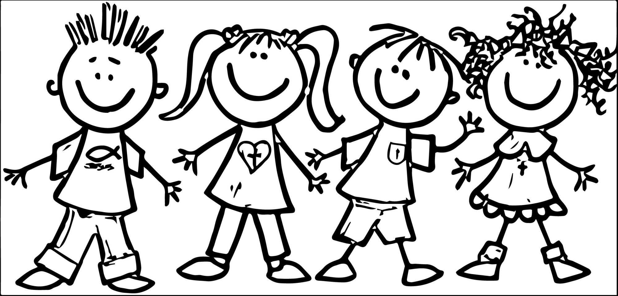 hight resolution of new friends clipart black and white design digital clipart collection