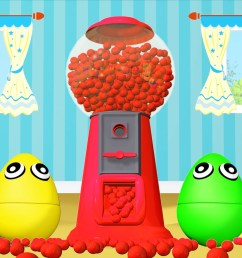 gumball machine ball pit show 3d for kids learn colors with  [ 1918 x 1079 Pixel ]
