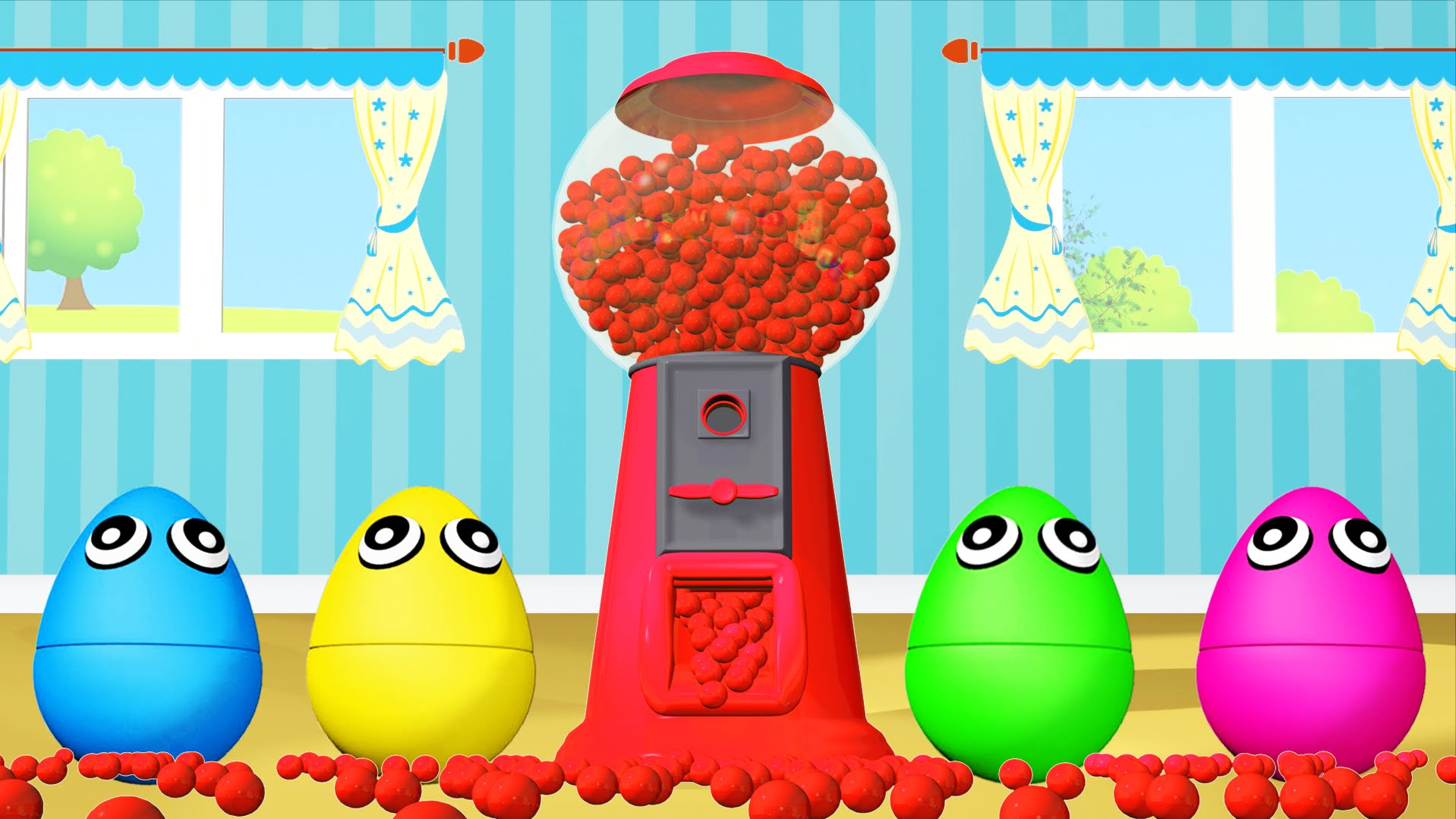 hight resolution of gumball machine ball pit show 3d for kids learn colors with