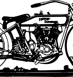 harley davidson clipart motorcycle racing vehicle bicycle [ 1667 x 750 Pixel ]