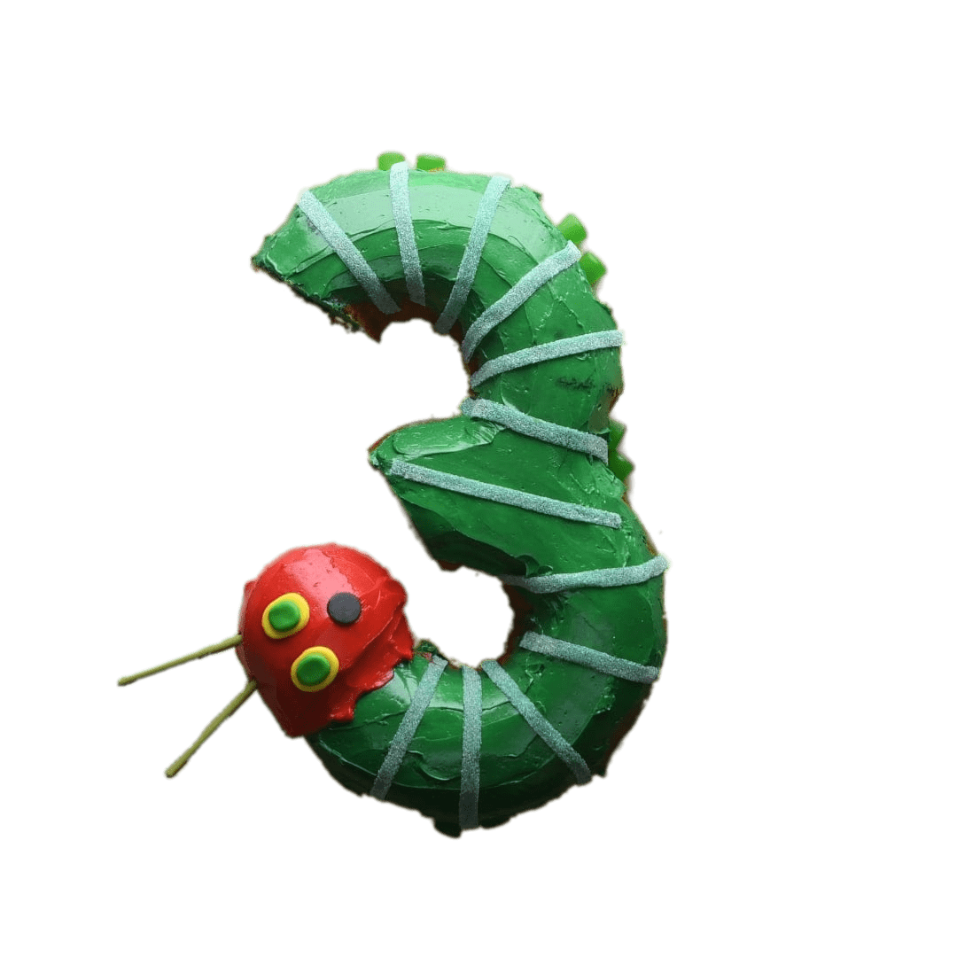 hight resolution of very hungry caterpillar png the number cake transparent