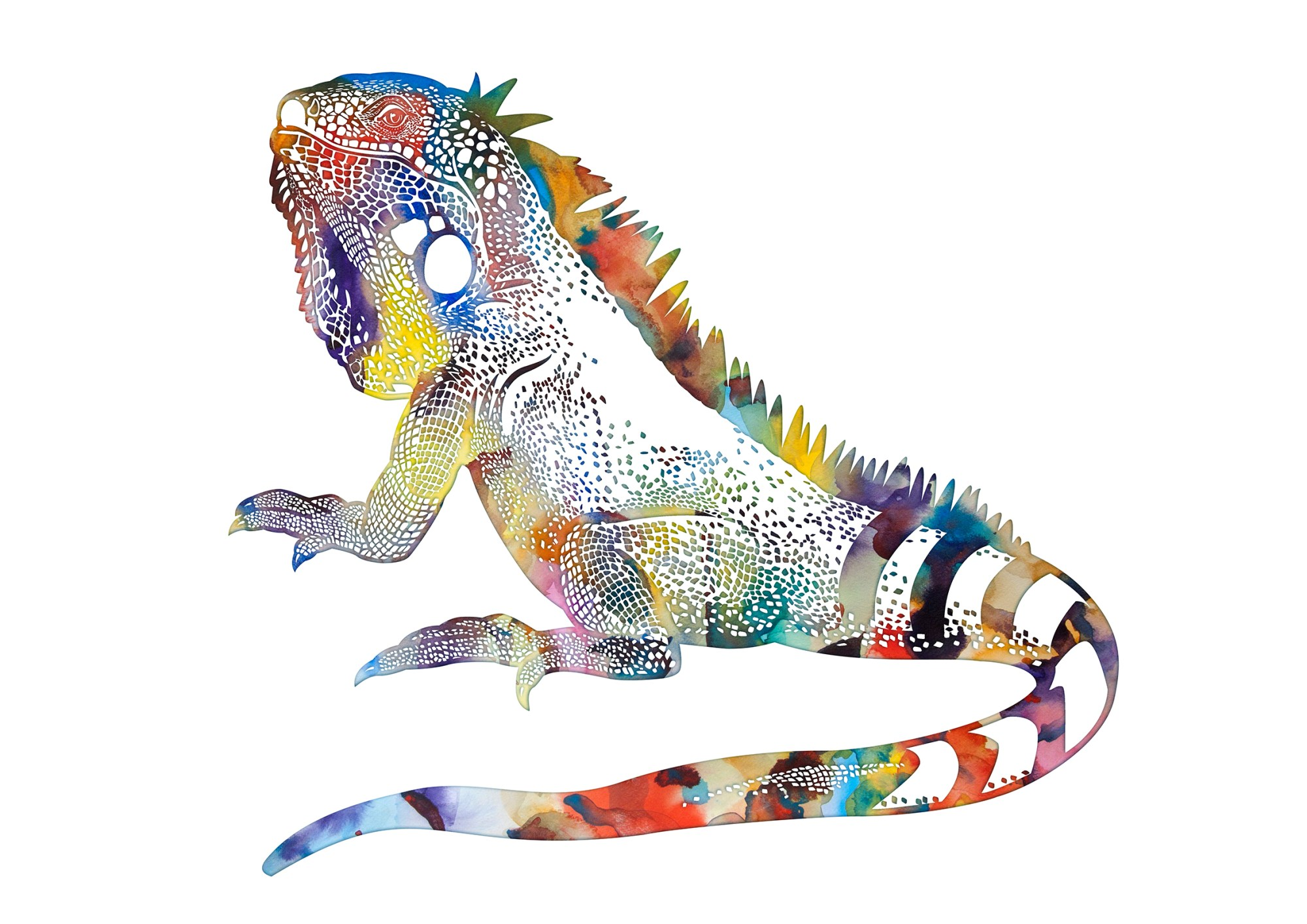 hight resolution of iguana downloadable picture watercolor poster by artollo