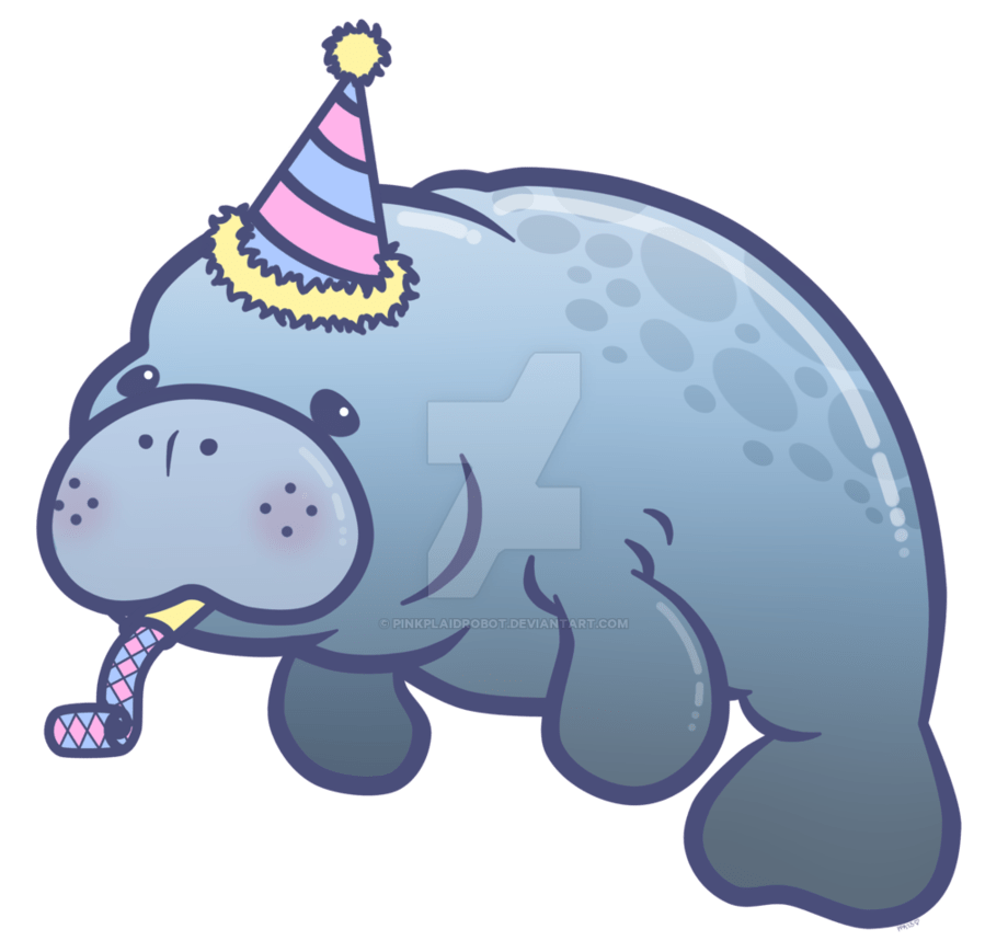 hight resolution of party manatee charm design