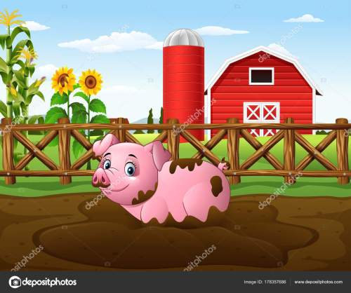 small resolution of mud clipart farm pig cartoon playing puddle stock