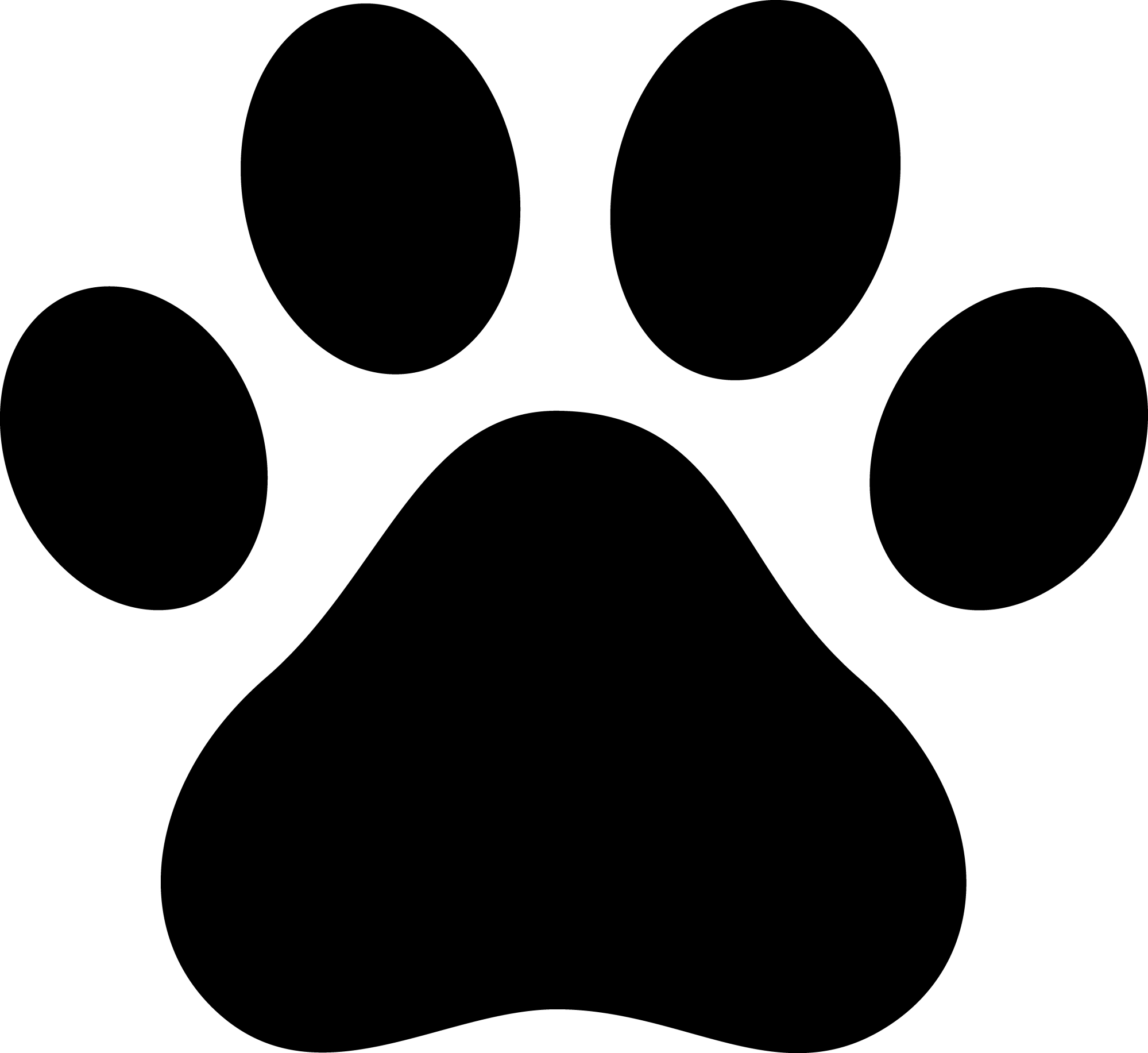hight resolution of pawprint clipart garfield black paw print silhouette