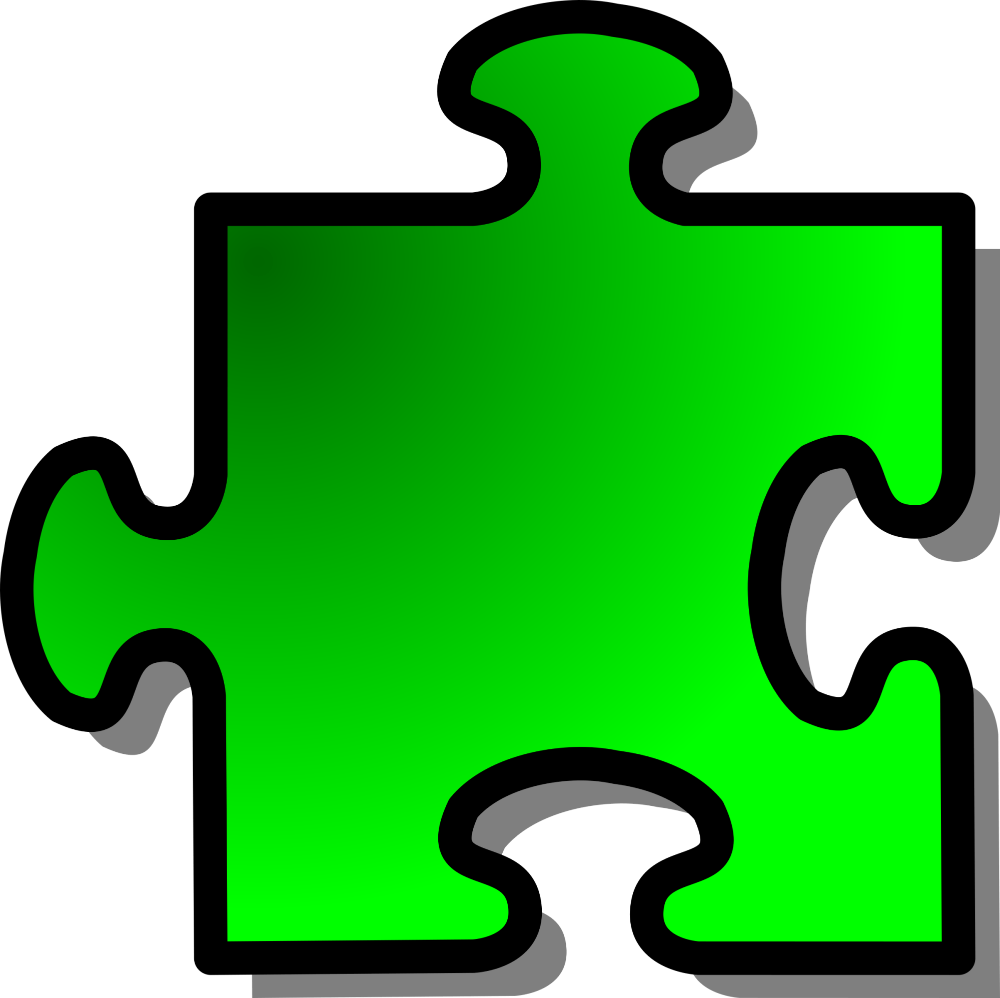 hight resolution of puzzles clipart puzzle piece green jigsaw big image