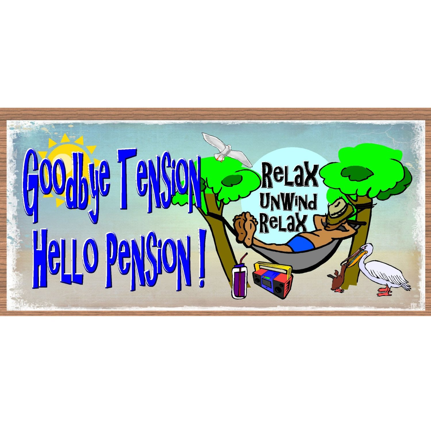 hight resolution of retirement clipart goodbye wood signs tension hello