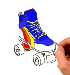 roller skates clipart colorful [ 1280 x 720 Pixel ]