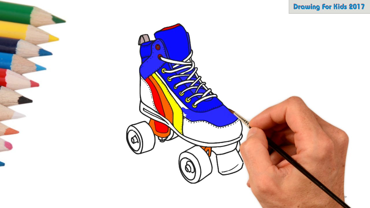 hight resolution of roller skates clipart colorful