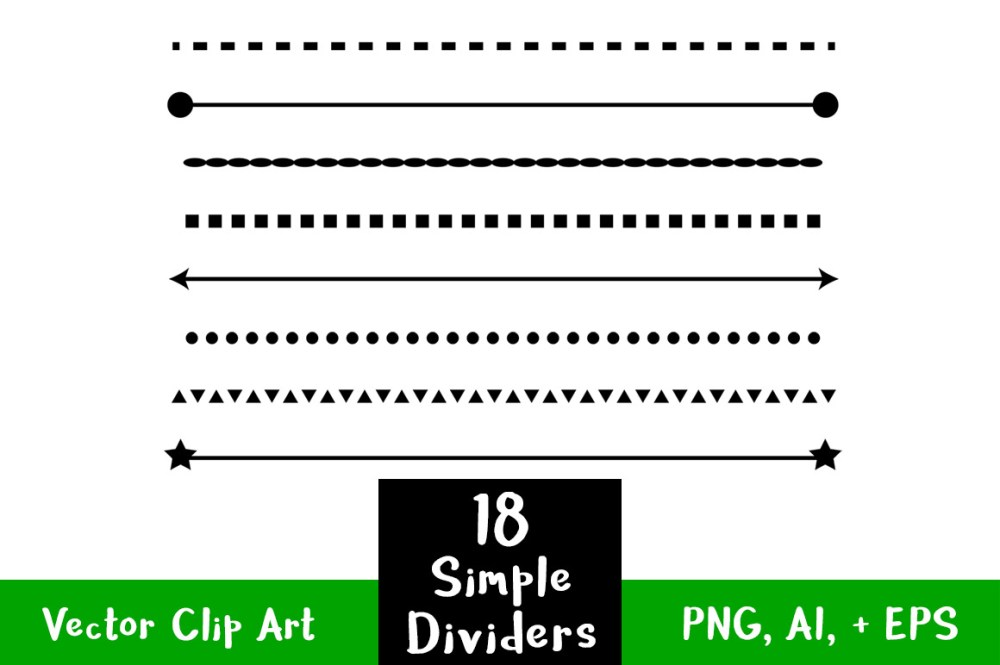 medium resolution of straight clipart divider line simple shape dividers