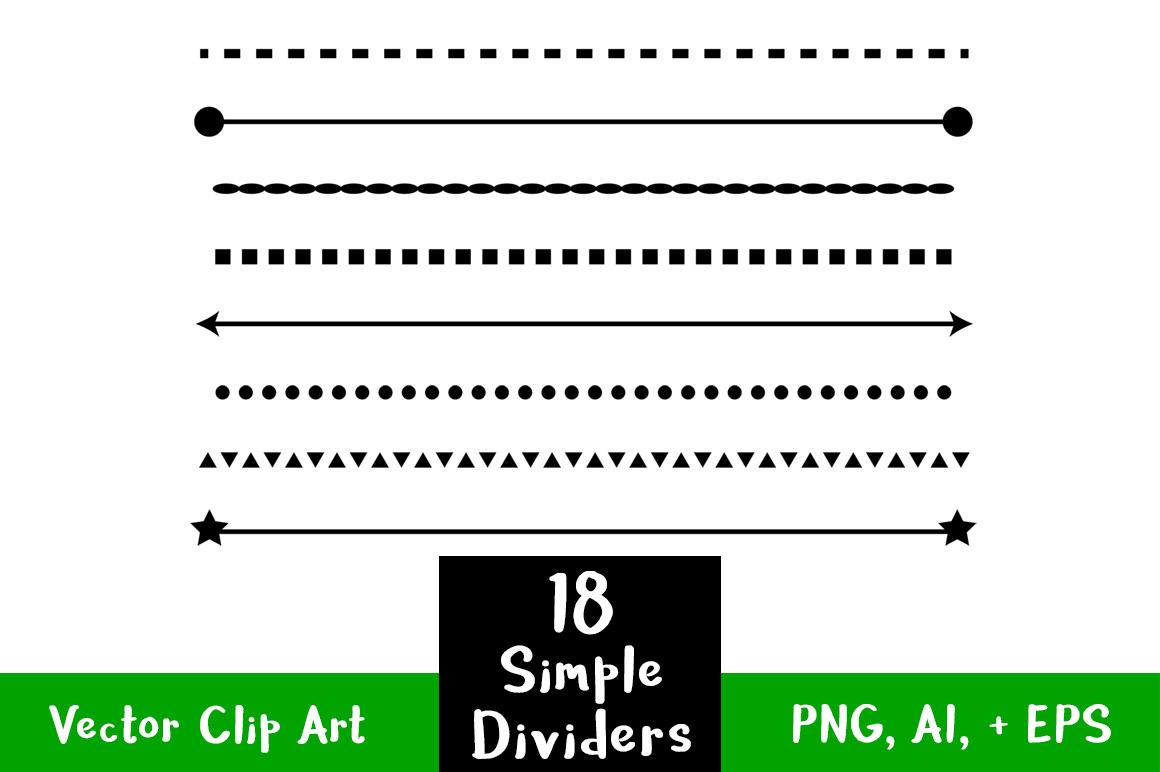 hight resolution of straight clipart divider line simple shape dividers