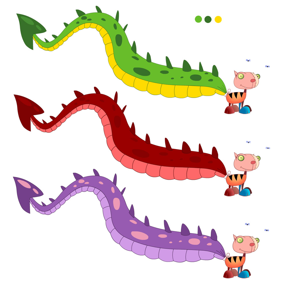 hight resolution of tail clipart dragon pencil and in color