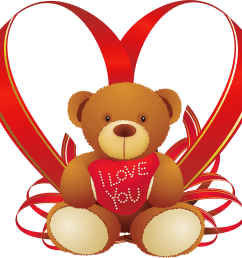 teddy bear clipart png red heart with [ 2500 x 2353 Pixel ]