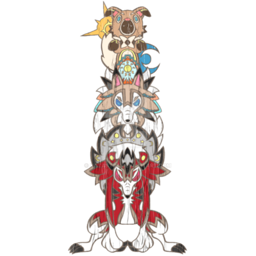 small resolution of totem drawing pole rockruff evolution by katastra