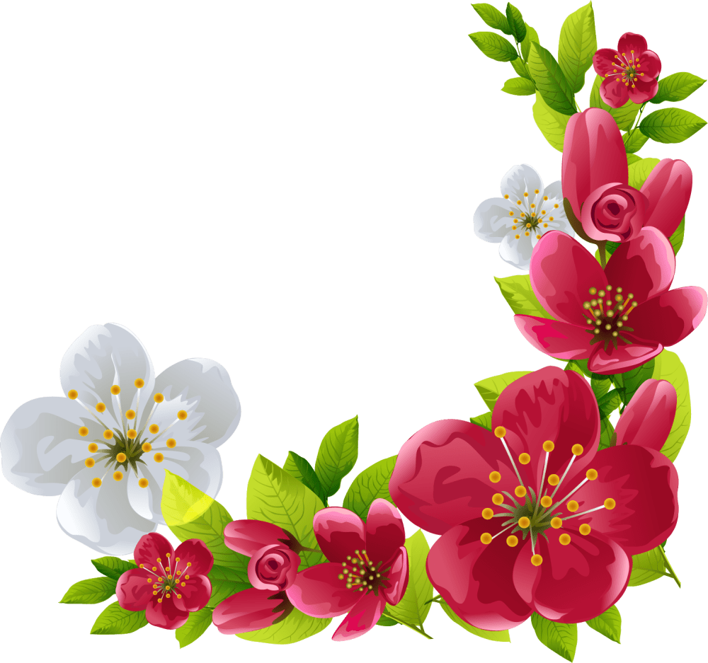 medium resolution of watercolor flowers borders elements ornaments png free art painting clip hand