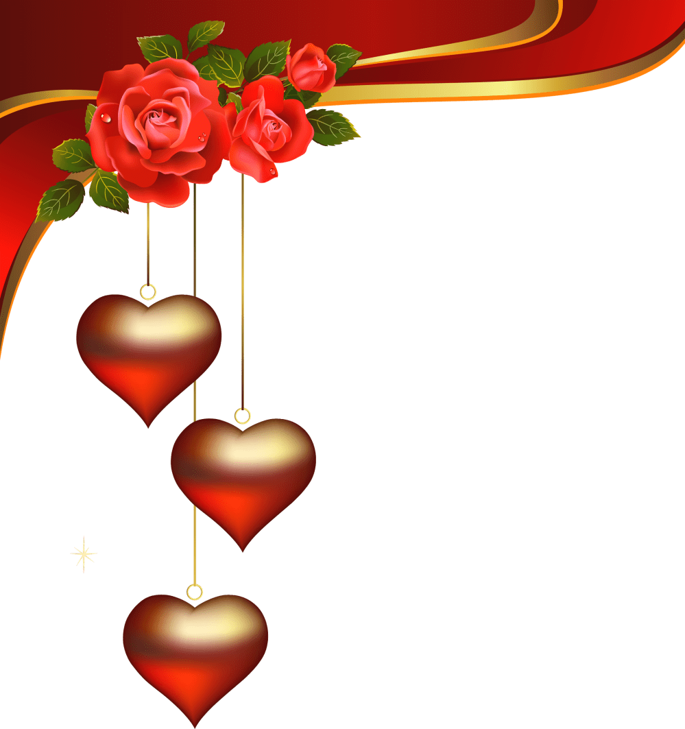 medium resolution of png wedding clipart decorative hearts pendants with