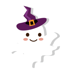 witch clipart ghost wizard hat cute cartoon [ 1024 x 1024 Pixel ]