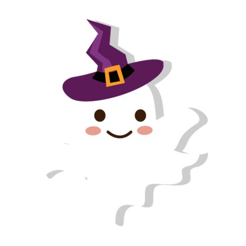 small resolution of witch clipart ghost wizard hat cute cartoon