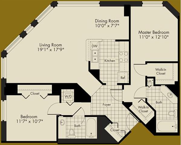 An Aqua Convertible Or A 2-bedroom