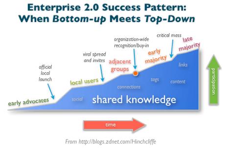 Enterprise 2.0 Success Pattern: When Bottom-up Meets Top-Down