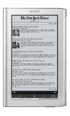 Il nuovo Sony Daily Edition. Immagine da ZdNet