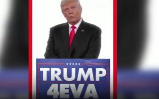 """特朗普:我要做总统直到""""永远"""""""