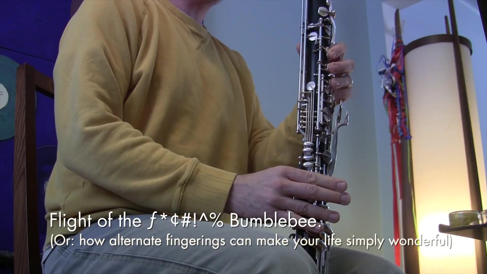 【低音單簧管】低音黑管也能吹野蜂飛舞?!!_嗶哩嗶哩 (゜-゜)つロ 干杯~-bilibili