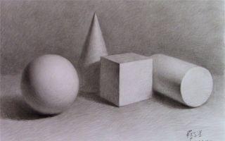 素描几何体示范讲解(厦门达鸿画室教学视频)