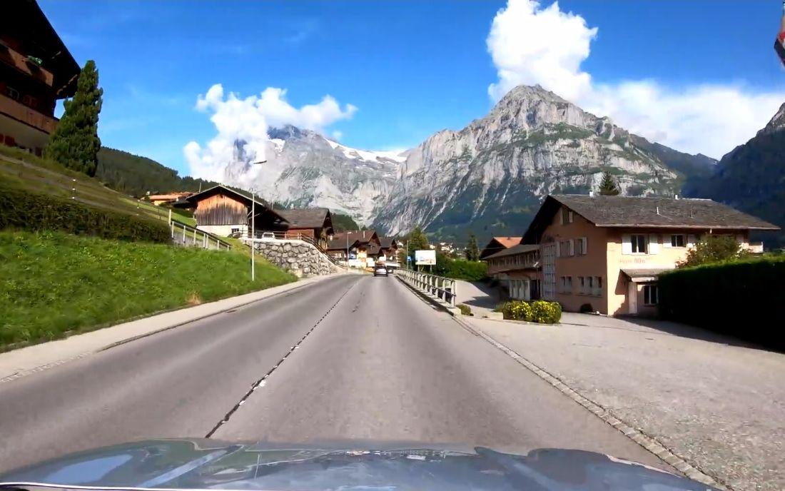 【超清瑞士】第一視角 汽車穿越瑞士 因內特基爾興-布里恩茨湖-因特拉肯-格林德瓦 2019.6_嗶哩嗶哩 (゜-゜)つロ 干杯~-bilibili