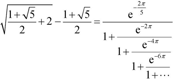 數學史上最美公式(一)——拉馬努金黃金分割數公式 - 嗶哩嗶哩