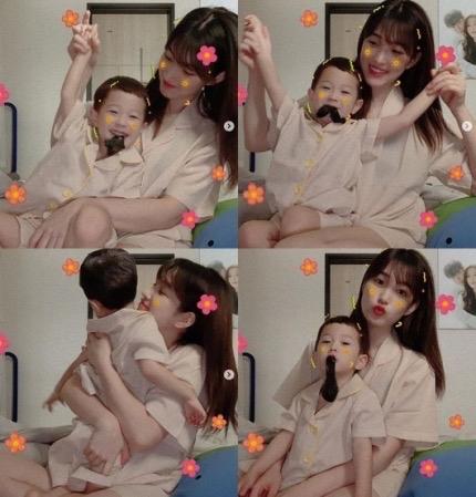 """97年idol早婚的金律喜晒儿子照片,网友惊呼""""这应该是姐姐和弟弟吧?""""-小柚妹站"""