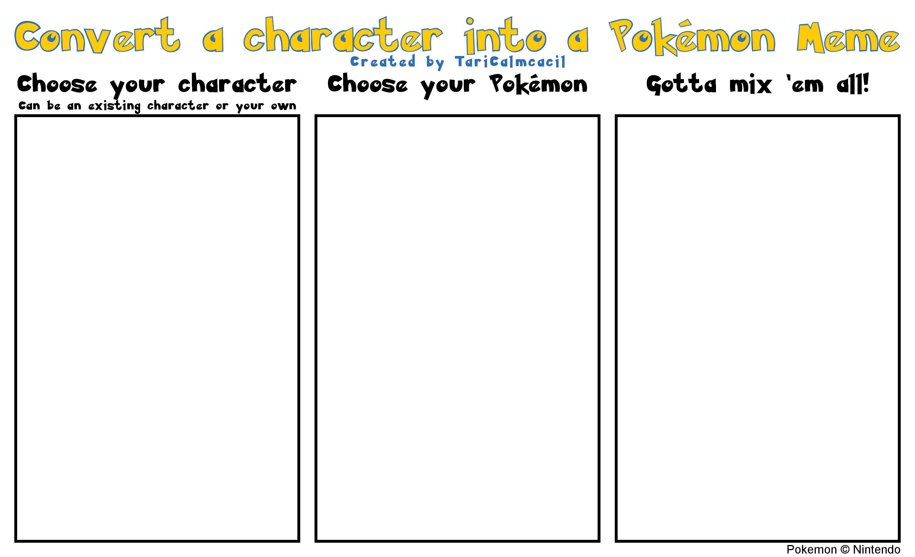 Convert a character into a Pokmon Meme Pokefication