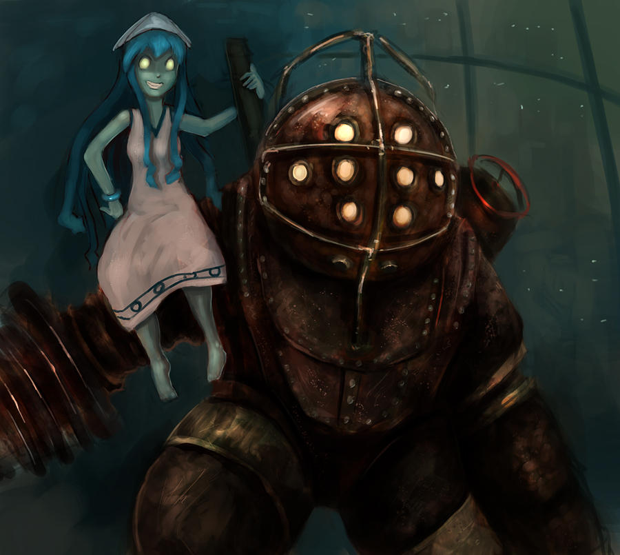 Creepy Little Girl Wallpaper Art Best Video Game Anime Crossover Idea Bioshock Know